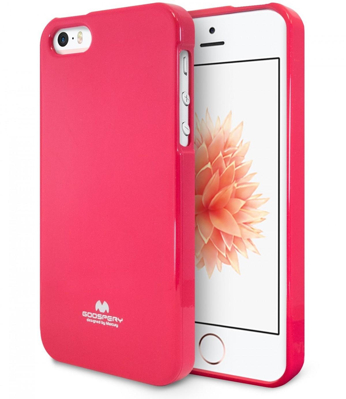 Pouzdro Mercury Apple iPhone 5   5S   SE Jelly Case hot růžové e560eccbbd5