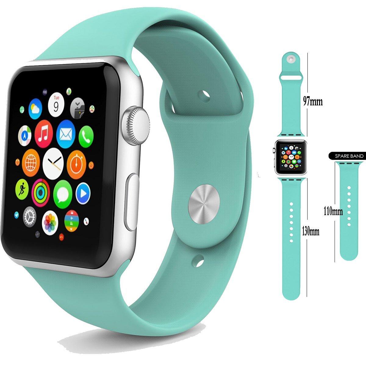 Řemínek SmoothBand pro Apple Watch Series 3/2/1 42mm - Mátově zelený