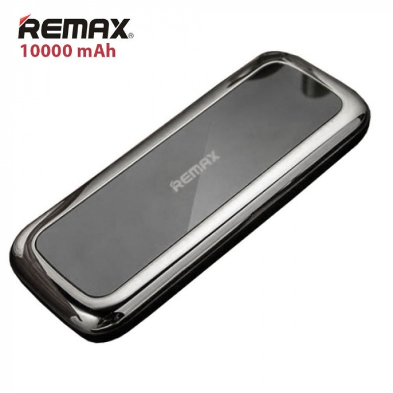 Luxusní Power Banka Remax MIRROR - 10 000 mAh, Černá