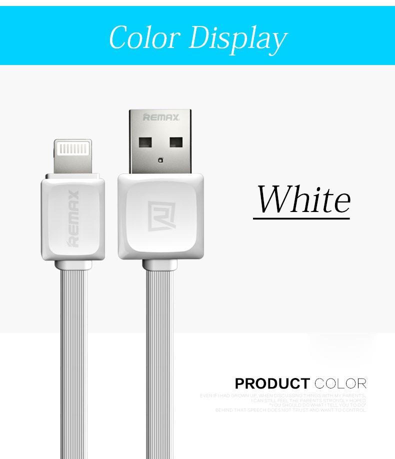 USB Kabel REMAX Fast s Lightning konektorem 1m - Bílý