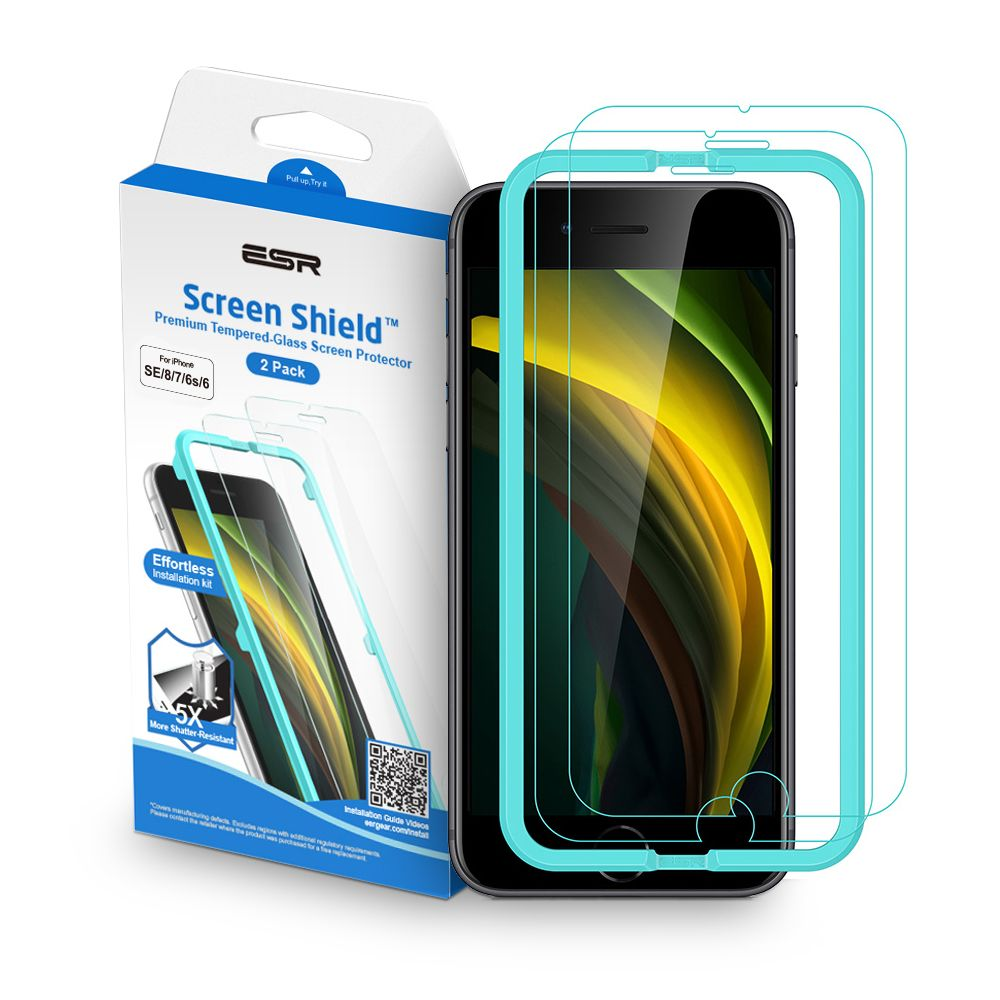ESR Screen Shield 2 Pack iPhone 7/8/SE 2020 čiré