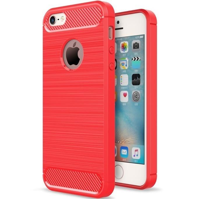Pouzdro iMore Carbon Armor na iPhone SE / 5s / 5 - Červený