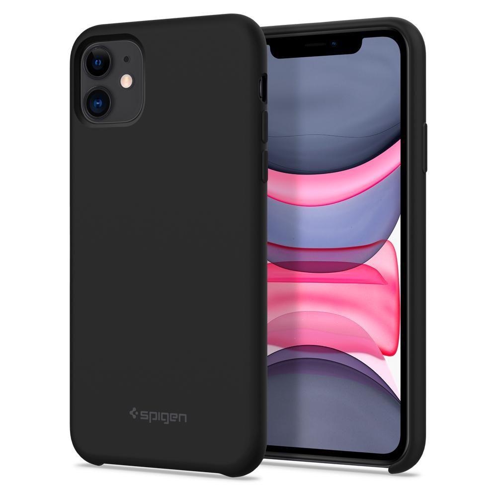 Pouzdro Spigen Silicone Fit iPhone 11 černé