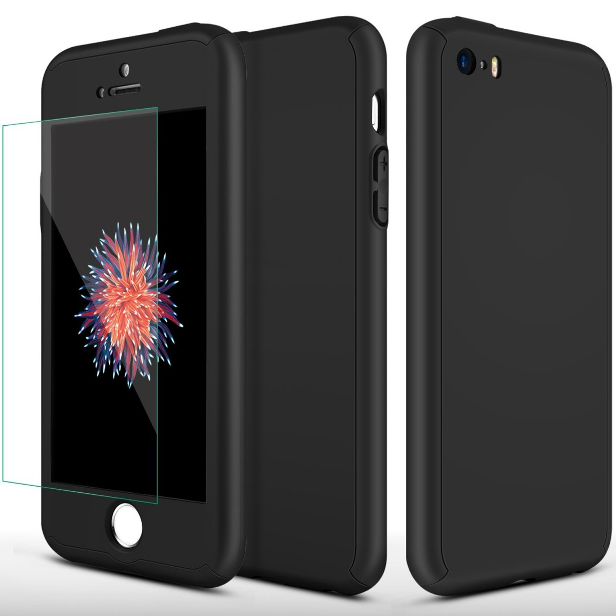 Kryt Defender 360° + Tvrzené sklo na displej Apple iPhone 8/7 - Černý