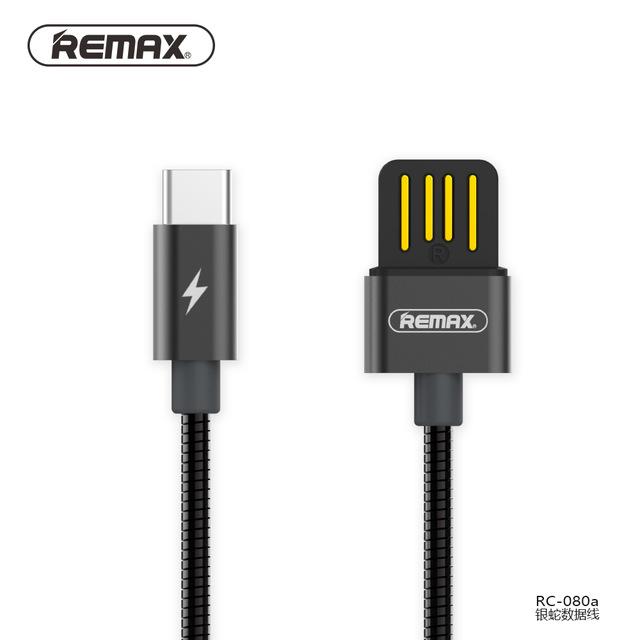 Datový kabel REMAX SERPENT RC-080a s USB Typ - C - Černý