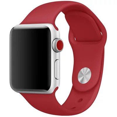 Řemínek SmoothBand pro Apple Watch Series 3/2/1 42mm - Tmavě červený