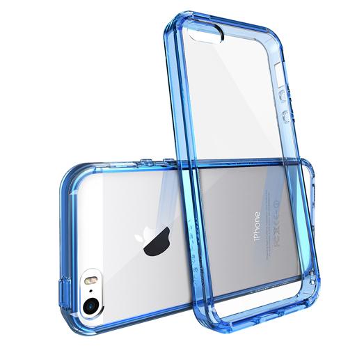 Modrý čirý obal / kryt na iPhone SE / 5s / 5