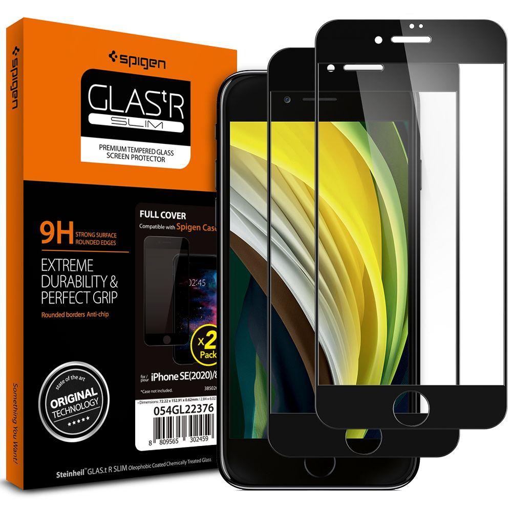 SPIGEN GLASS FC IPHONE 7/8/SE 2020 AGL01315 - Černé