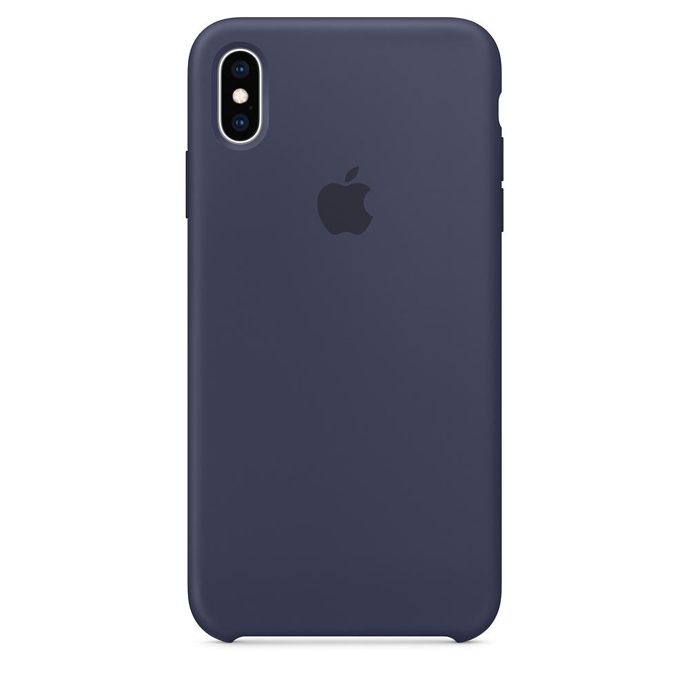 Pouzdro Apple silikonové iPhone XS Max půlnočně modré