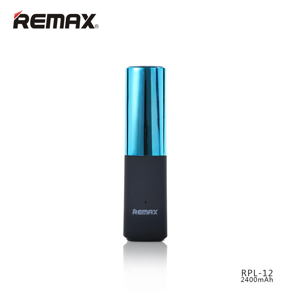 Stylová externí baterie Remax LipMax PowerBank 2400mAh - Modrá