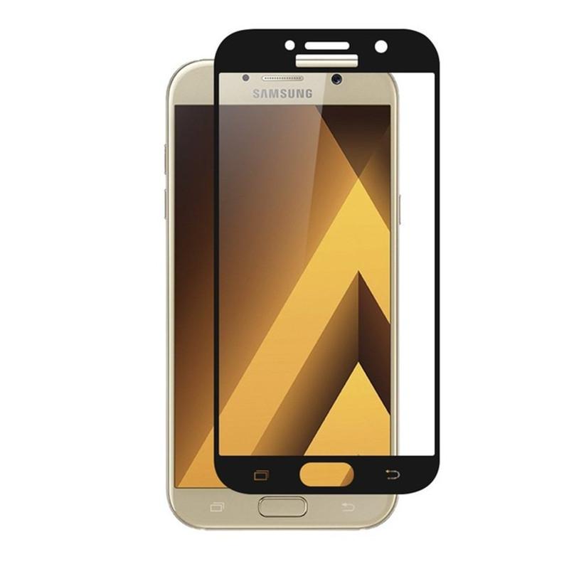 3D ochranné sklo Carbon Fiber na displej Samsung Galaxy J7 (2017) - Černé