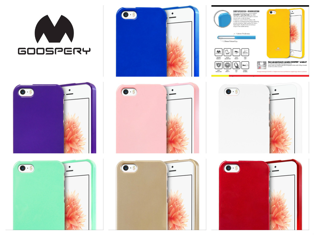 Silikonový obal / kryt Jelly Case Goospery Mercury Apple iPhone SE / 5s / 5