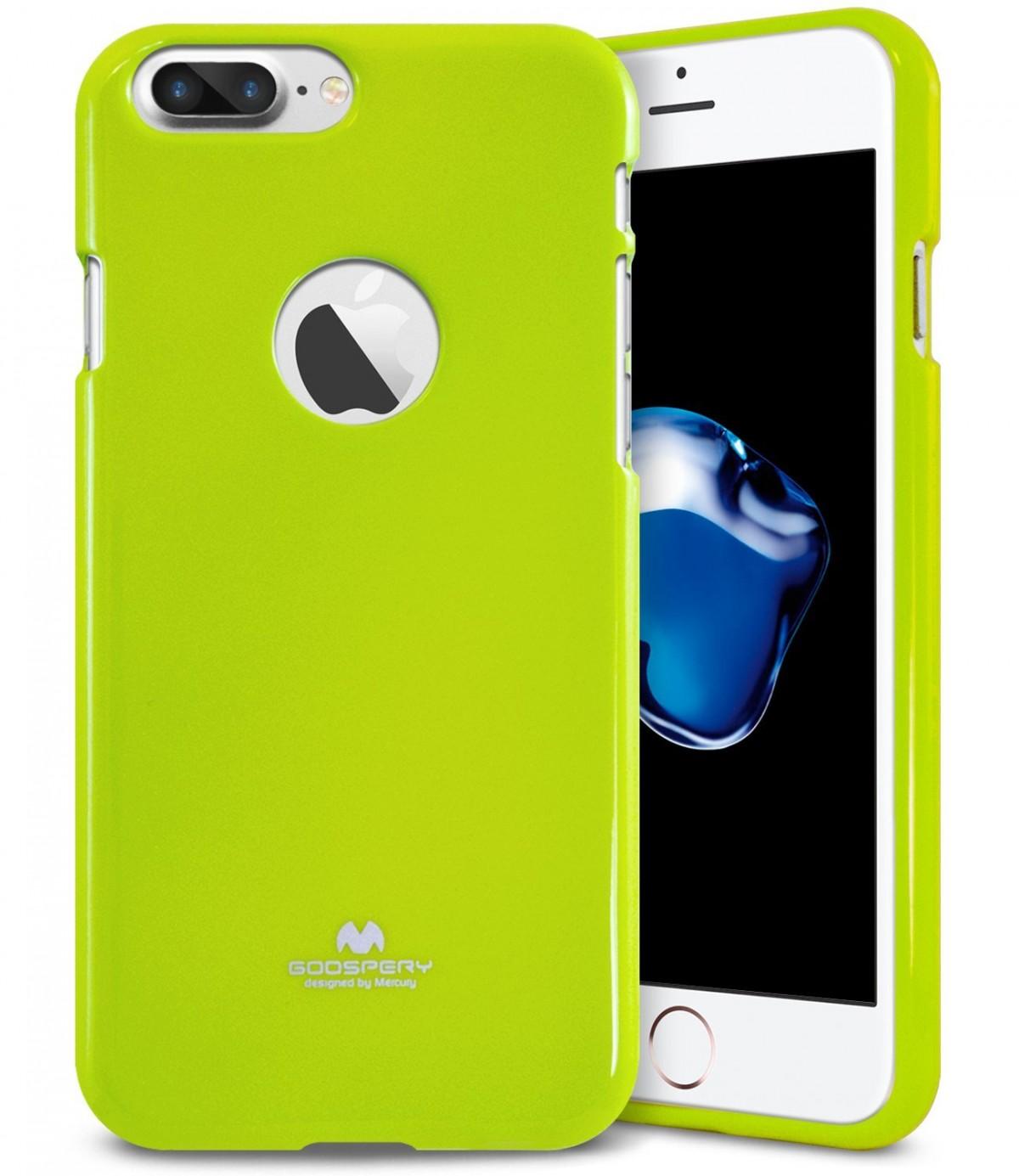 Tenké silikonové obaly / kryty Goospery Mercury pro Apple iPhone 7 Plus - Jelly Case - Limetkově zelený / Lime
