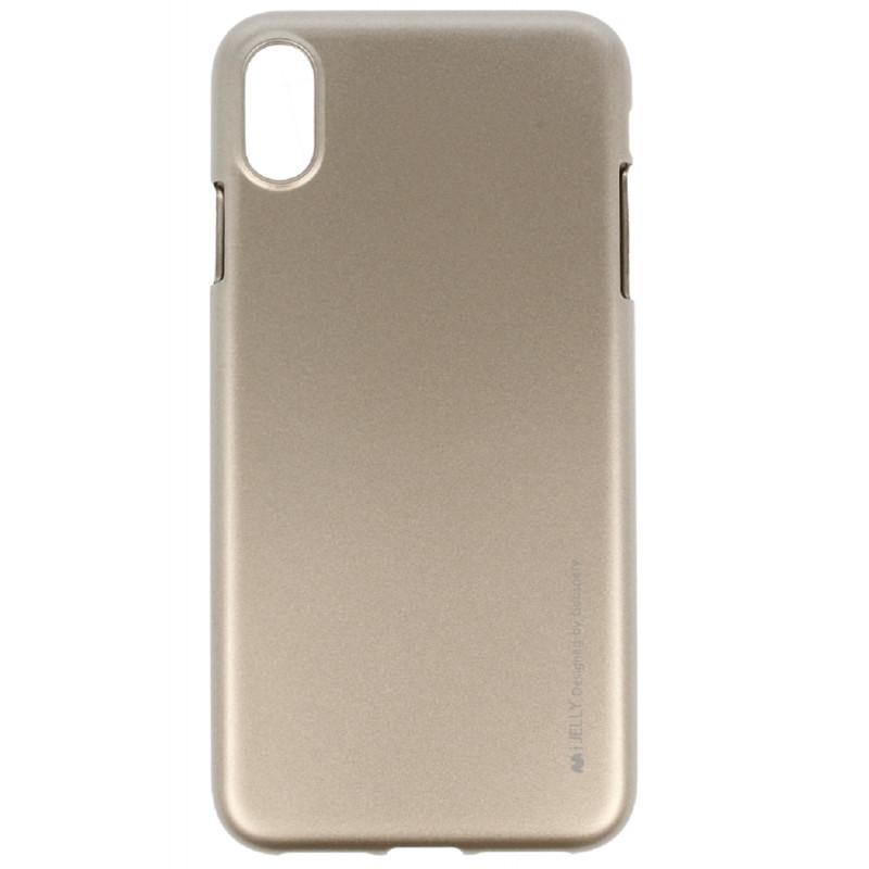 Pouzdro Goospery i-Jelly Metal iPhone XS MAX - Zlaté