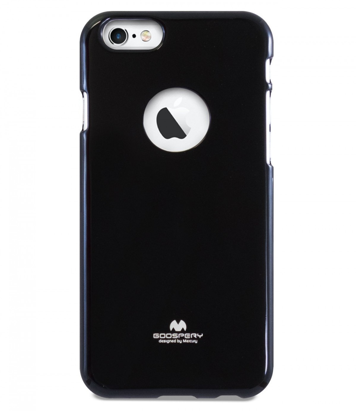 Tenké silikonové obaly / kryty Goospery Mercury pro Apple iPhone 6s/6 - Černý / Jet Black