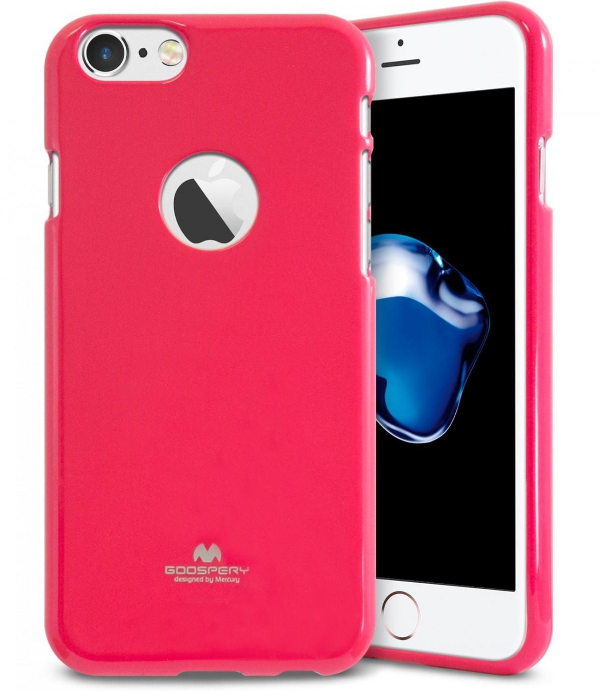 Pouzdro Jelly Case Goospery Mercury Apple iPhone 8/7 - Růžové