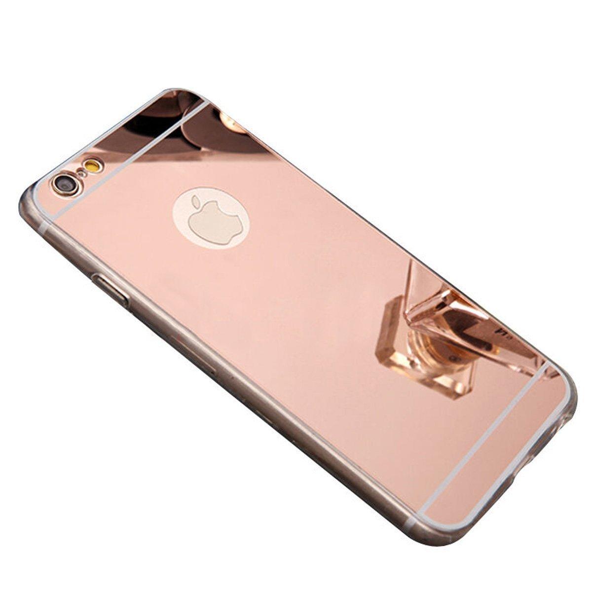 Zrcadlový kryt My Mirror pro iPhone 6s / 6 - Růžově zlatý (rose gold)