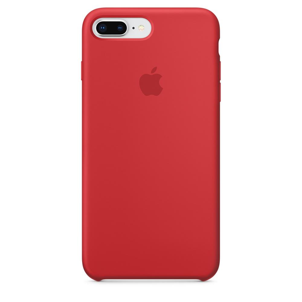 Originální silikonový kryt Apple iPhone 8 Plus / 7 Plus - Červený
