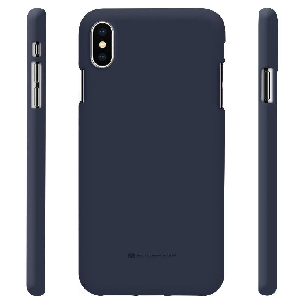 Pouzdro Mercury Soft Feeling iPhone XS MAX - Půlnočně modrý