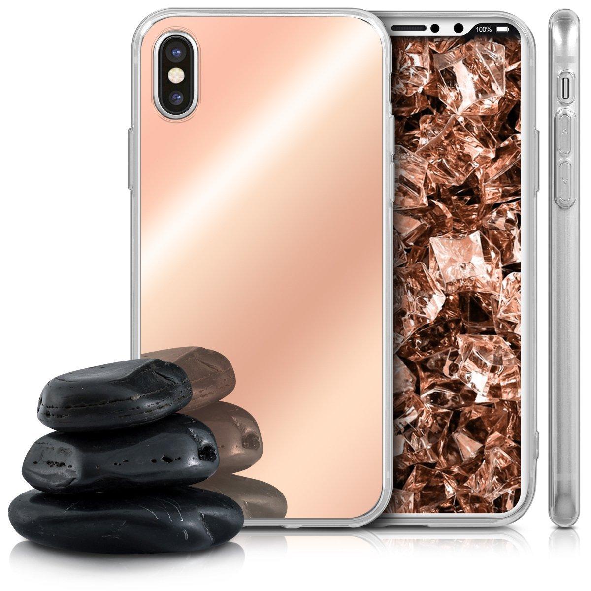 Zrcadlový obal / kryt My Mirror pro iPhone X - Růžově zlatý