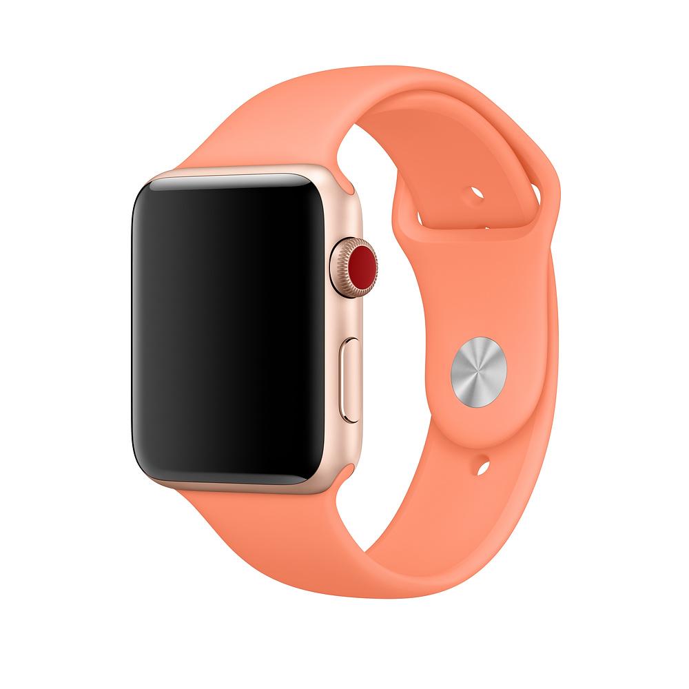 Řemínek SmoothBand pro Apple Watch Series 3/2/1 42mm - Broskvový