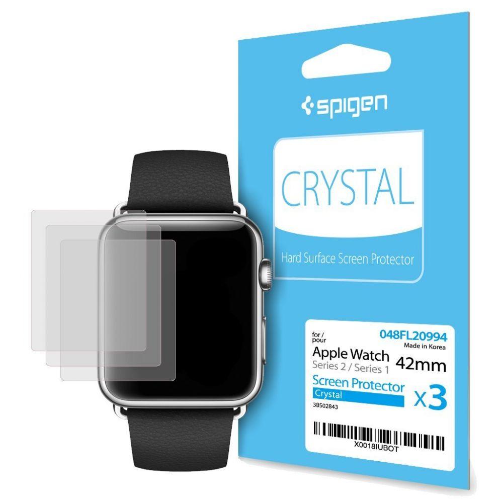 Fólie Spigen SPG Crystal na displej Apple Watch 42mm Series 1/2/3 (3ks)