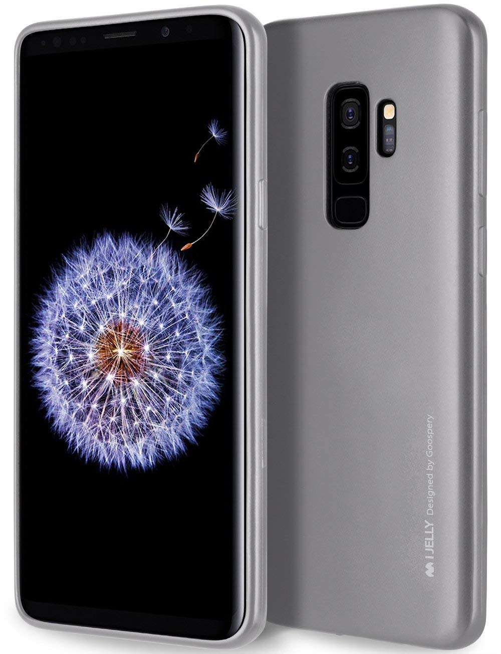 Silikonový kryt Goospery Mercury iJelly Metal na Galaxy S9 Plus - Šedý