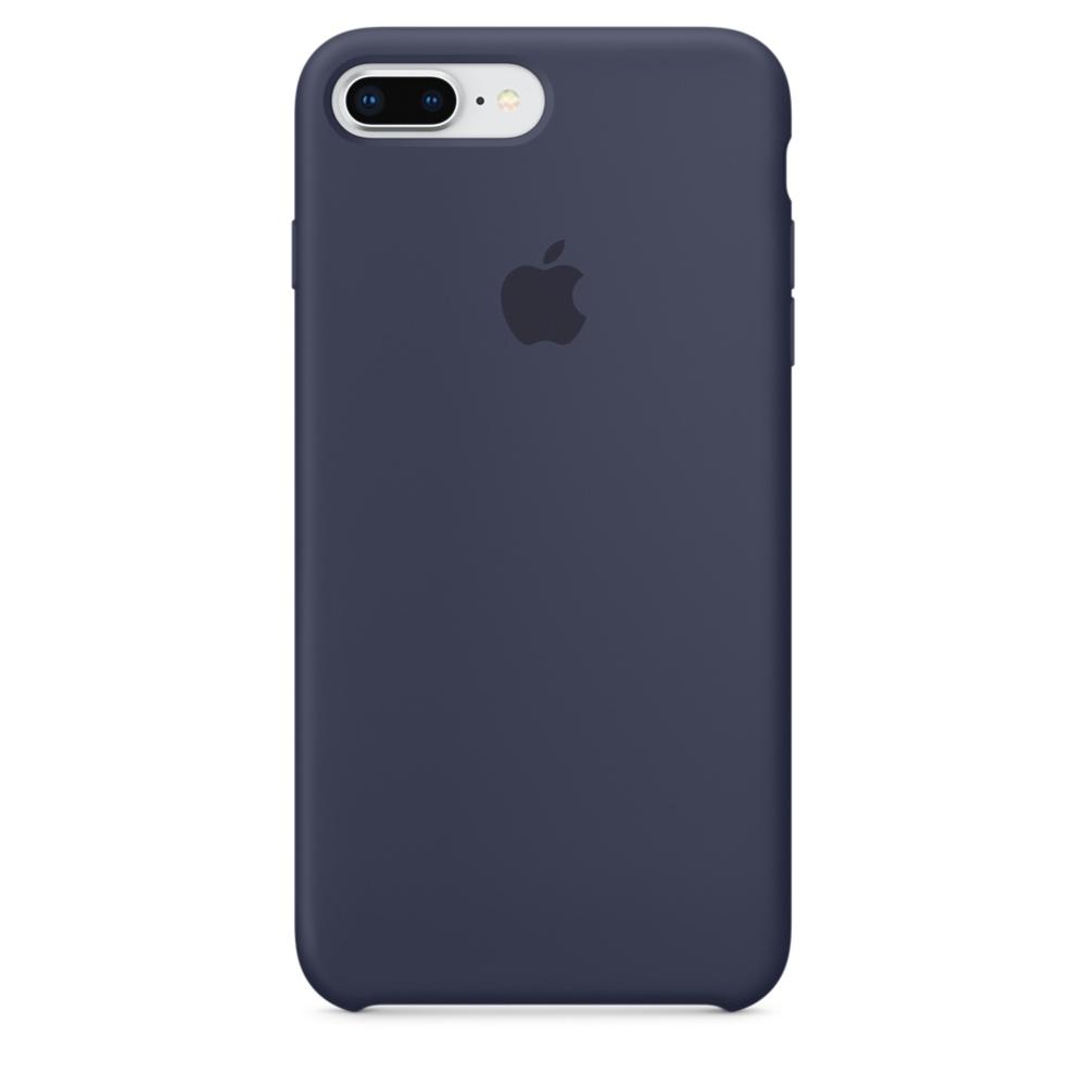 Pouzdro Apple Silicone Case iPhone 8 Plus / 7 Plus - půlnočně modré