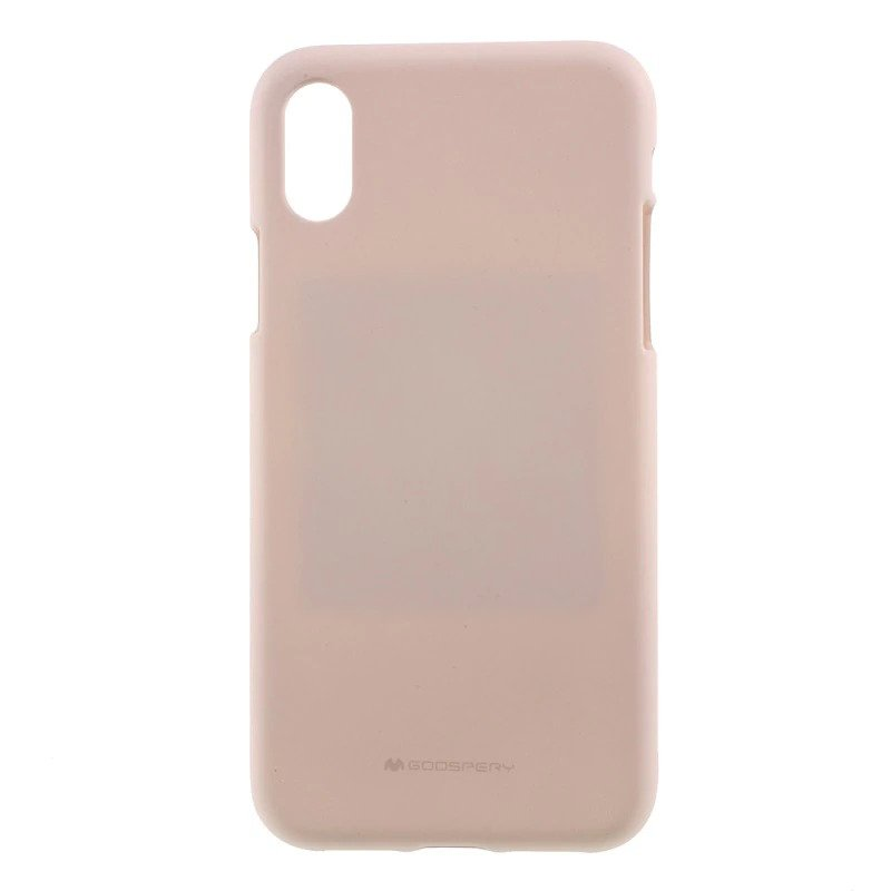 Pouzdro Mercury Soft Feeling iPhone XS MAX - Pískově růžový