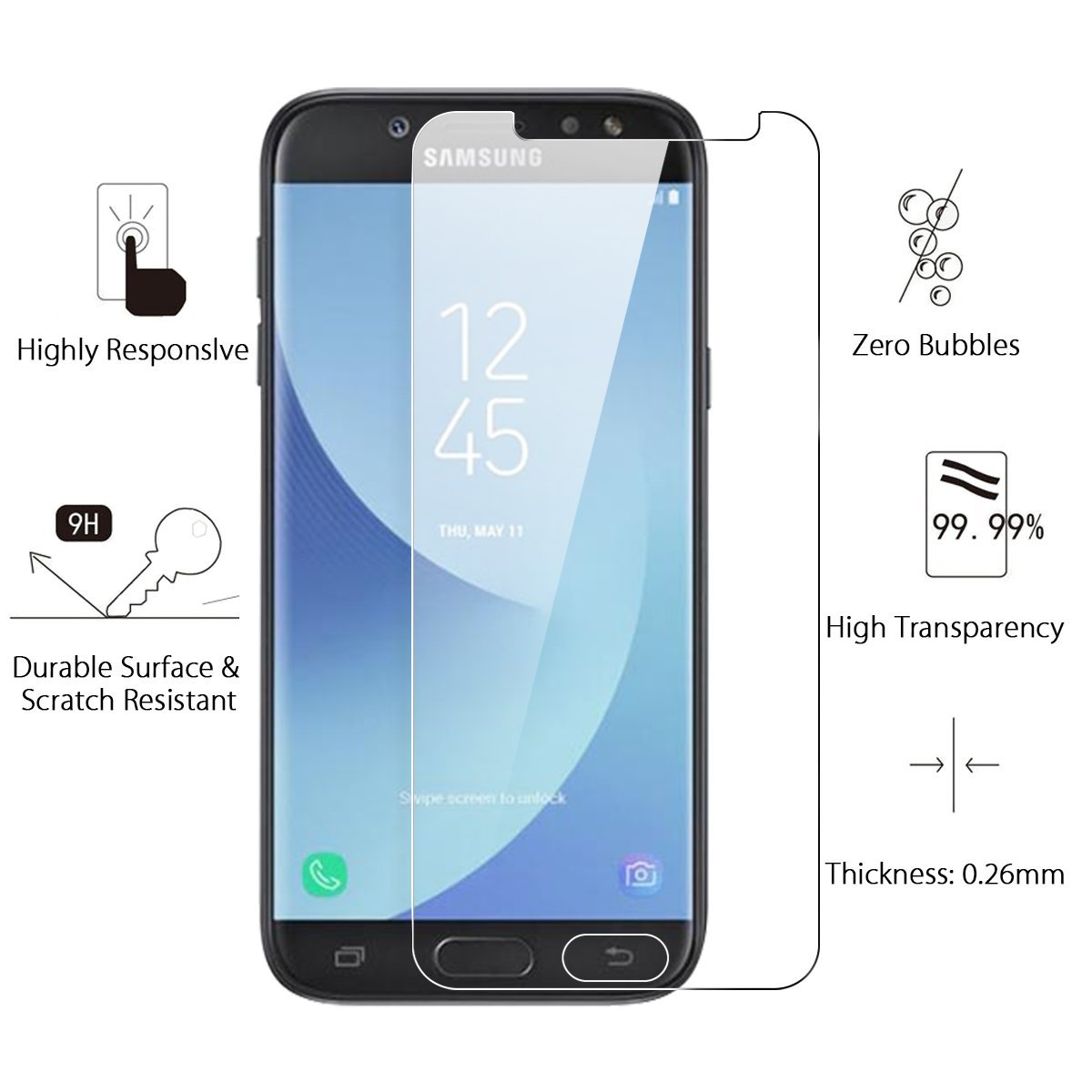 Ochranné tvrzené sklo pro Samsung Galaxy J7 (2017)
