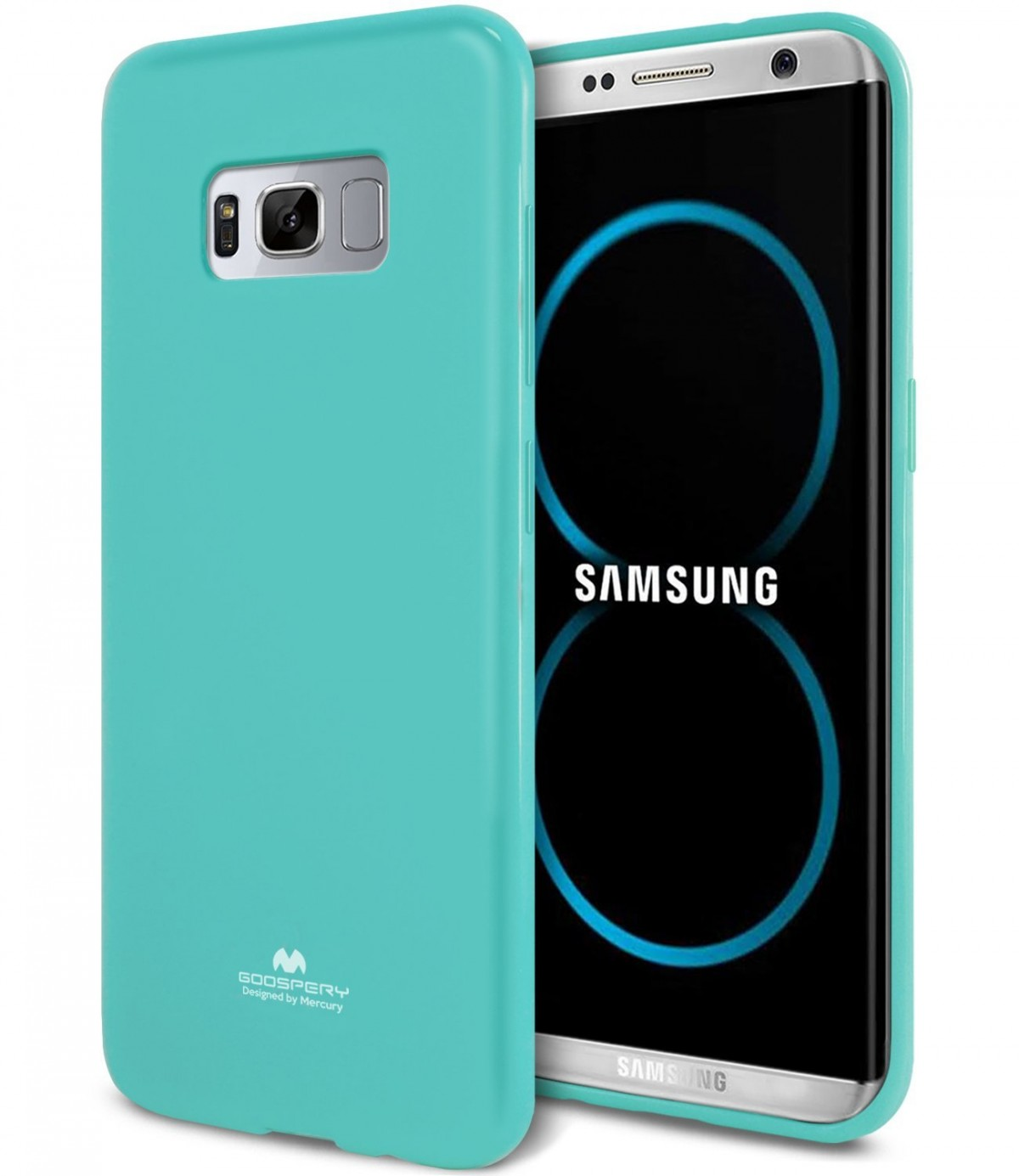 Silikonový barevný obal / kryt Goospery Mercury pro Samsung Galaxy S8 - Jelly Case - Mint