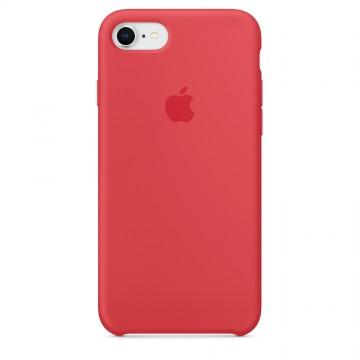 Originální silikonový kryt Apple na iPhone 8 / 7 - Malinově červený