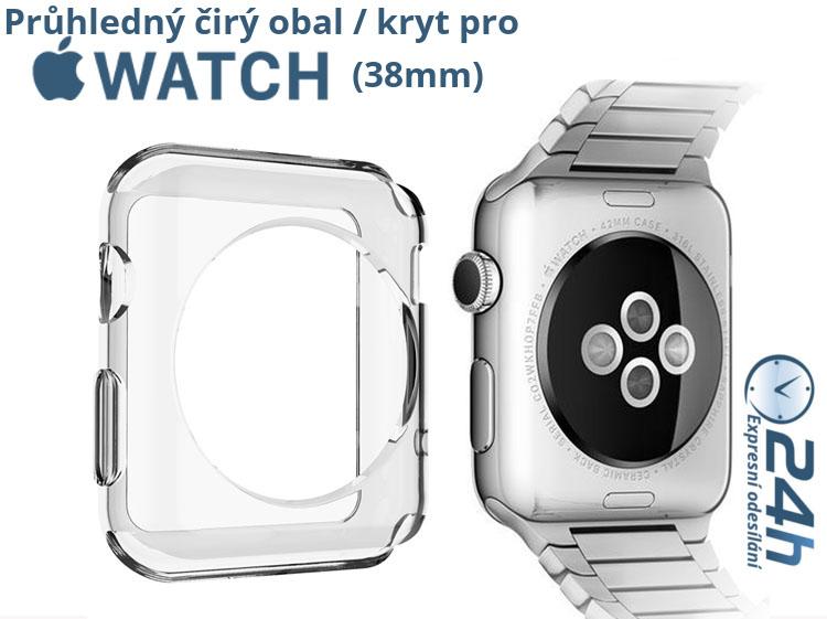 Průhledný čirý obal Clear na Apple Watch (38mm)