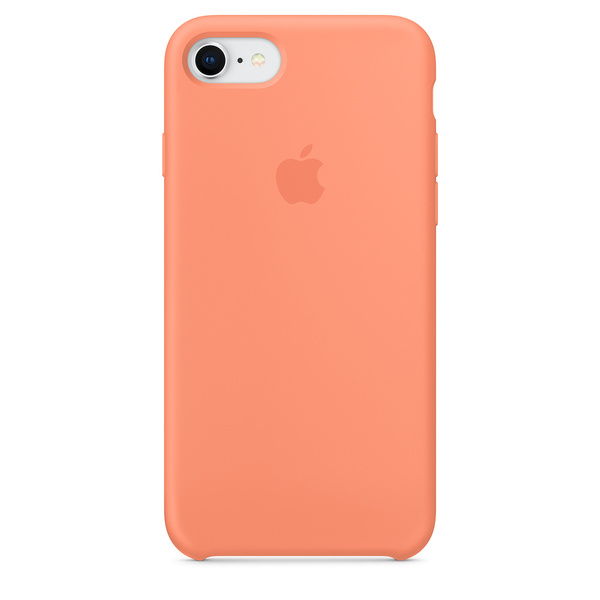 Silikonový kryt Apple Silicone Case na iPhone 8 / 7 - Peach