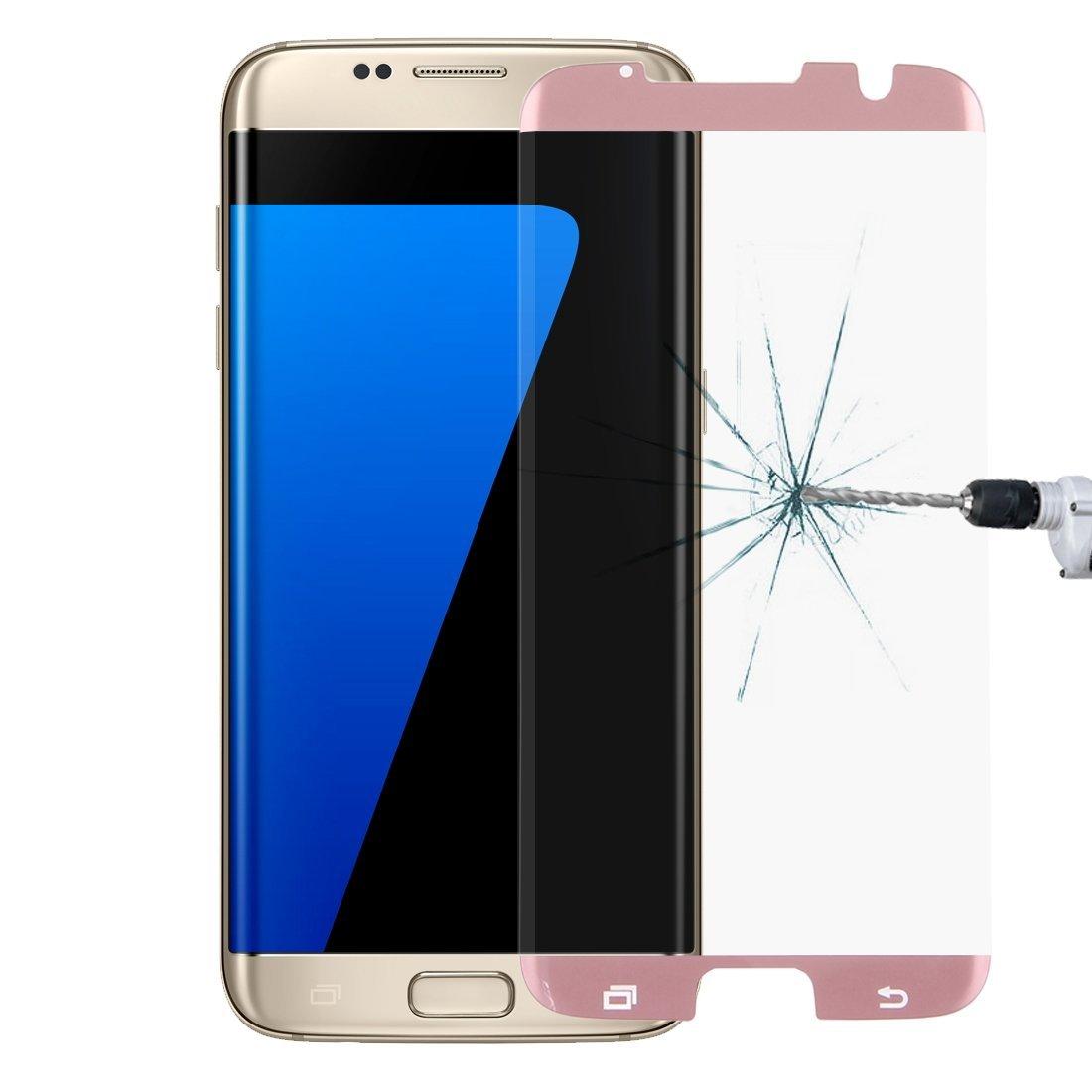 3D Ochranné sklo CASE FRIENDLY na celý displej pro Galaxy S7 Edge - Růžové - Rose Pink