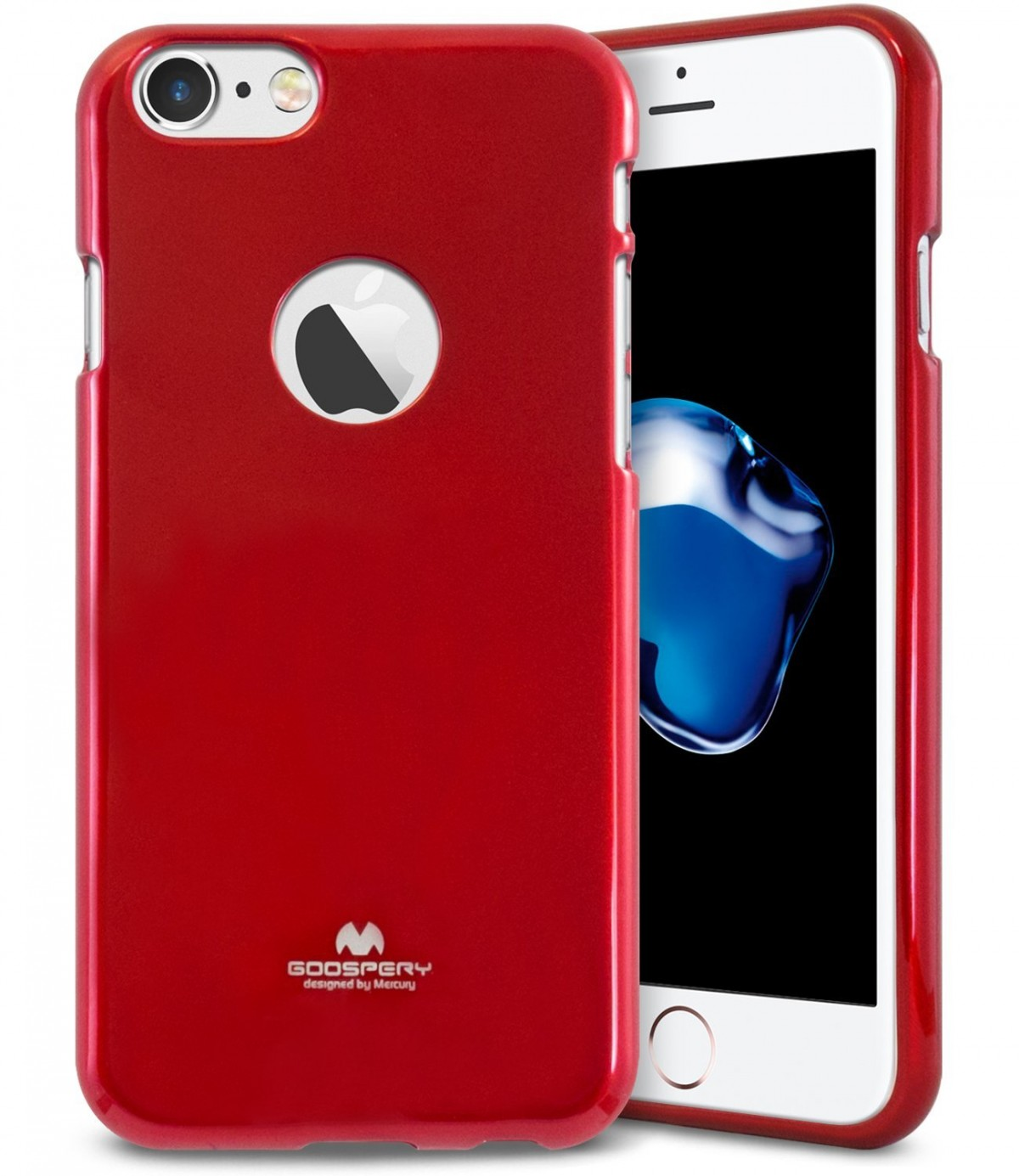 Pouzdro Goospery Mercury Jelly Case Apple iPhone 8/7 - Vínové