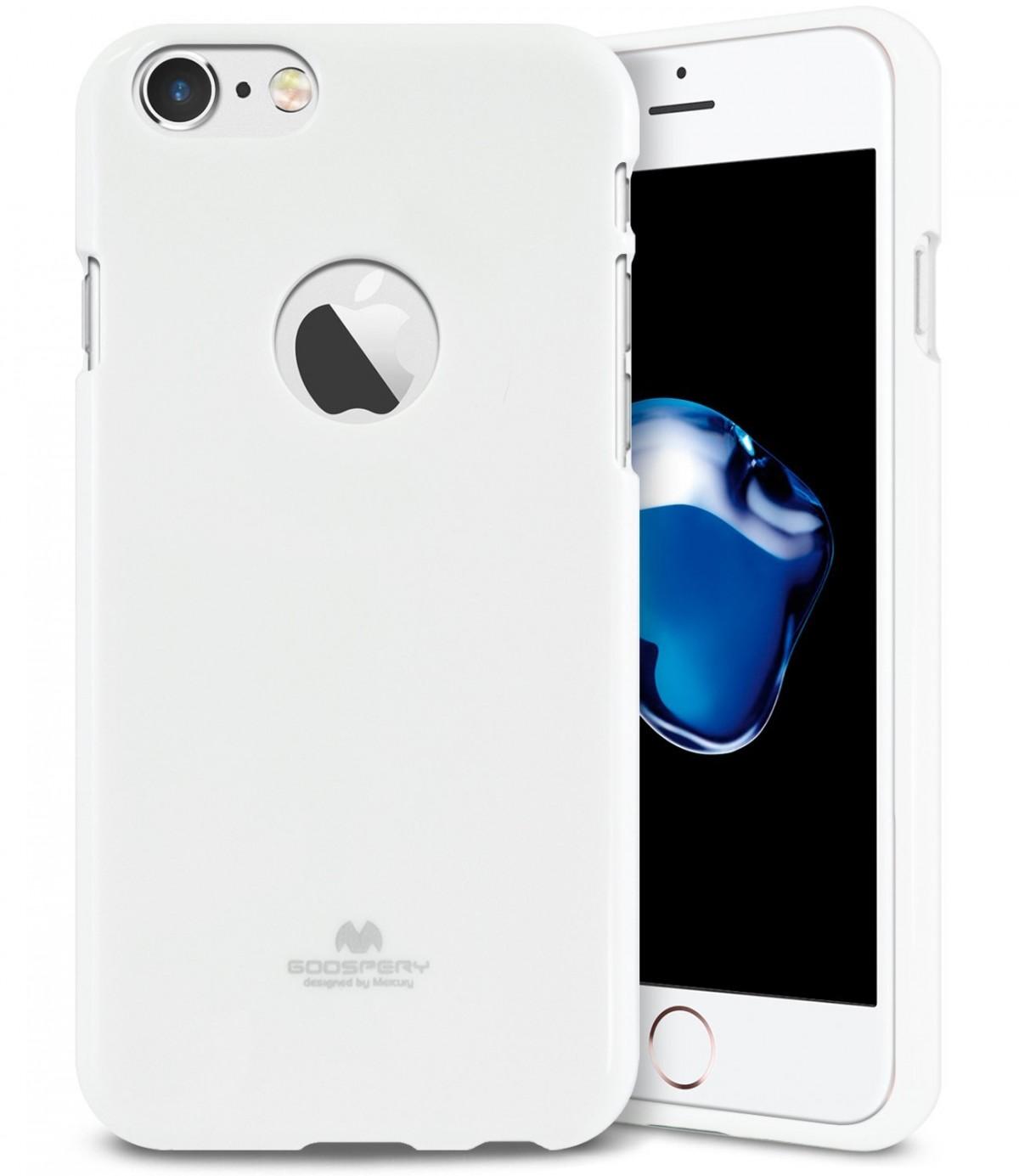 Tenké silikonové obaly / kryty Goospery Mercury pro Apple iPhone 7 - Bílý