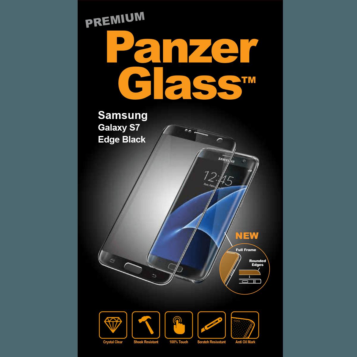 Ochranné sklo PanzerGlass PREMIUM Full Frame na Samsung Galaxy S7 Edge - ČERNÉ
