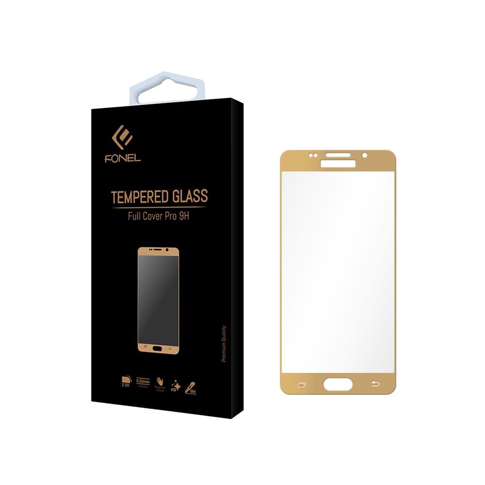 Tvrzené ochranné sklo FullCover na celý displej pro Samsung Galaxy A5 (2016) A510 - Zlaté