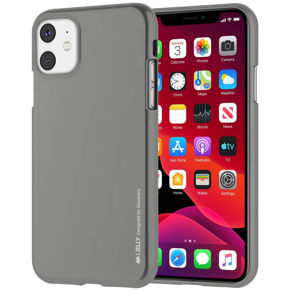 Pouzdro Mercury i-Jelly Metal iPhone 11 - Šedý