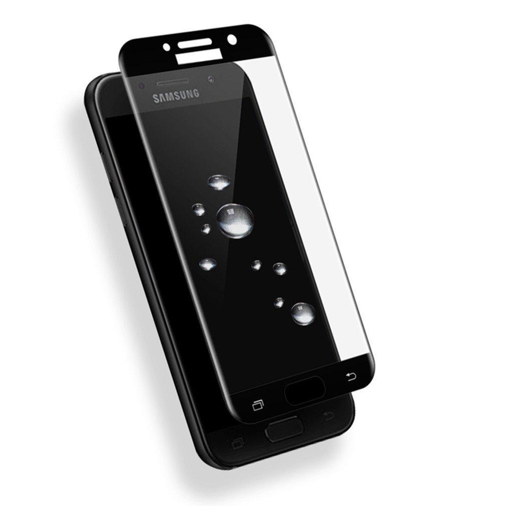 ScreenShield Tempered Glass pro Galaxy A3 2017 A320, kovový rámeček, černá SAM-TGFCBMFA320-D