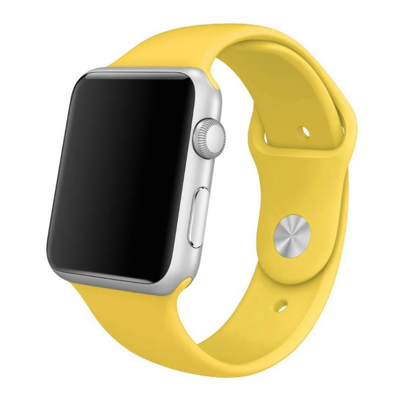 Řemínek SmoothBand pro Apple Watch Series 3/2/1 42mm - Žlutý