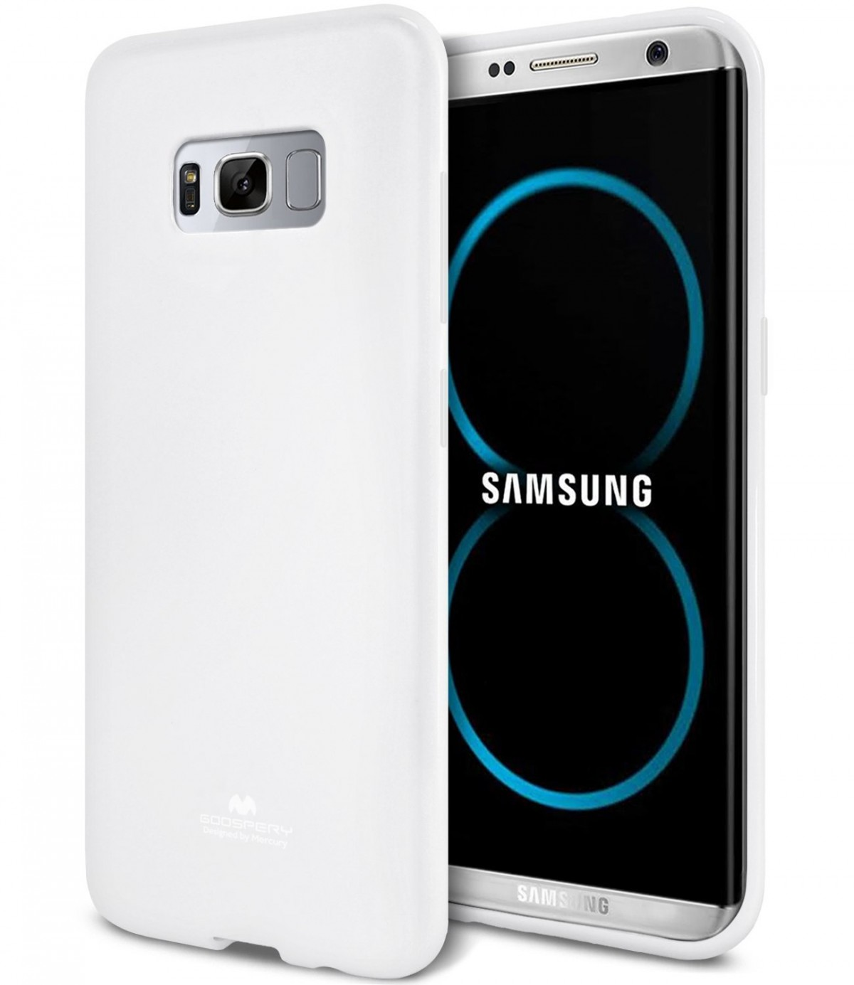 Silikonový barevný obal / kryt Goospery Mercury pro Samsung Galaxy S8 - Jelly Case - Bílý