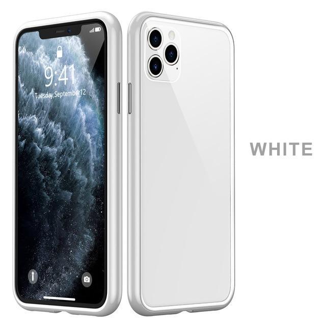 Pouzdro XO Glass Case iPhone 11 - Mléčně bílé