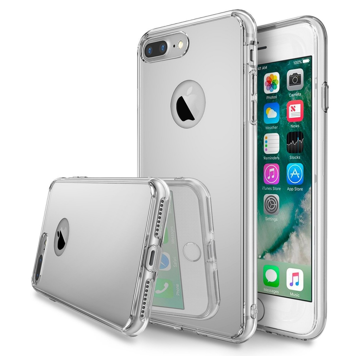 Zrcadlový kryt My Mirror pro iPhone 7 Plus - Stříbrný (silver)