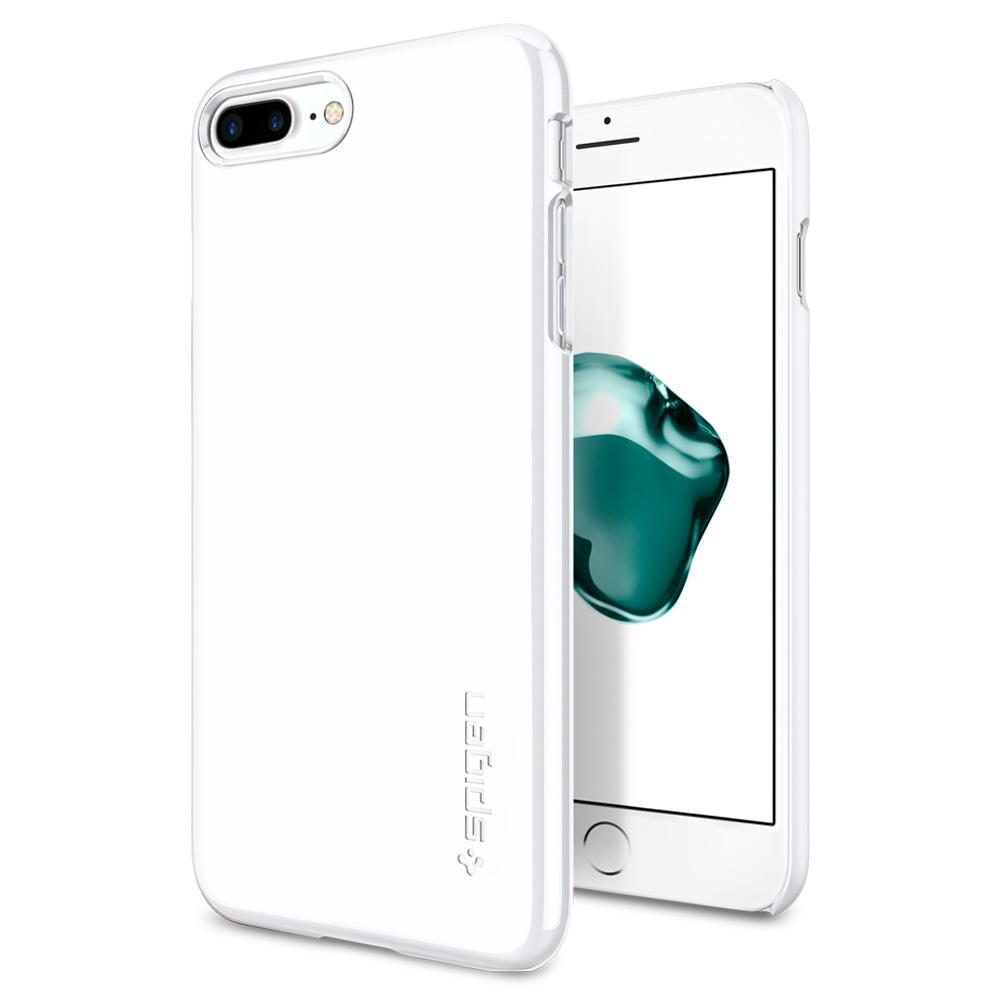 Ochranný obal SPIGEN Thin Fit pro Apple iPhone 8 Plus / 7 Plus - Jet White
