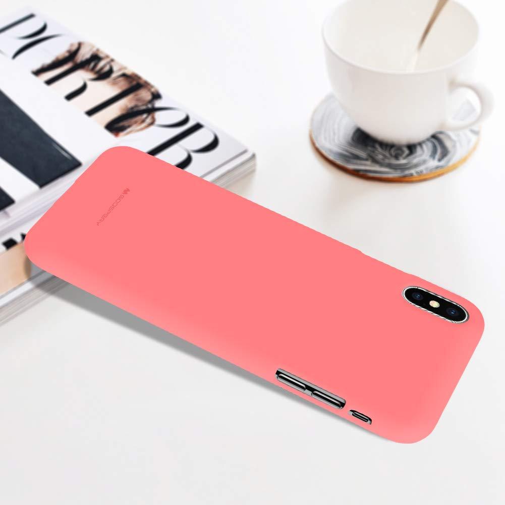 Pouzdro Mercury Soft Feeling iPhone XS MAX - Růžový
