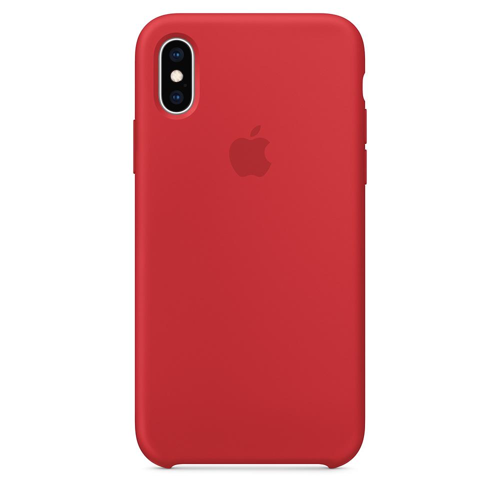 Pouzdro Apple silikonové iPhone XS červené