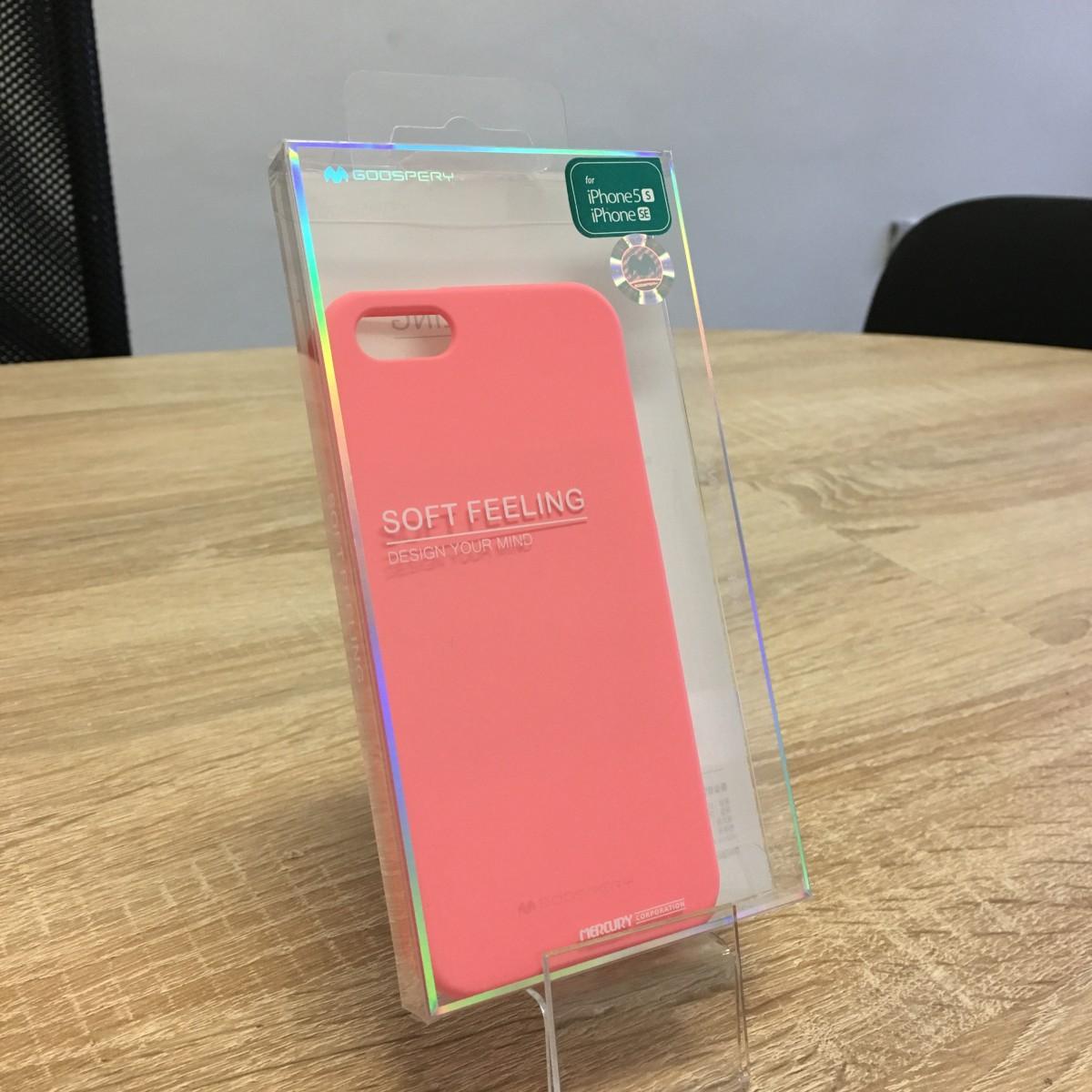 Obal / kryt Mercury Soft Feeling pro Apple iPhone SE/5s/5 - Růžový