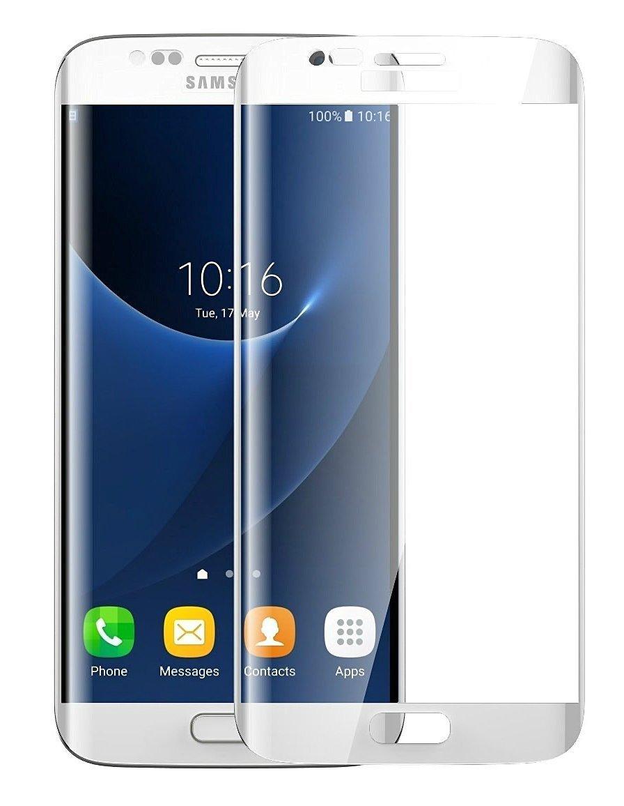 3D zakřivené tvrzené sklo 9H pro Samsung Galaxy S7 Edge - Bílé (white)